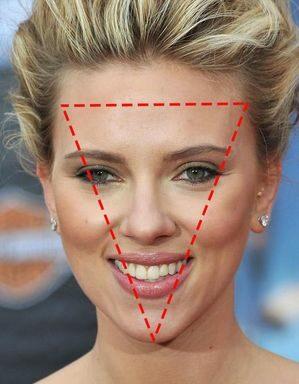 倒三角臉型