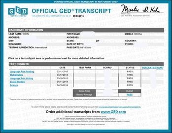 GED 證書